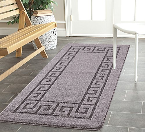 GelBack59 Durable & Long Lasting Rug Carpet Runner Solid Colours Nicely Designed 100% Polypropylene Thickness 12mm Dark Grey 160 x 230cm