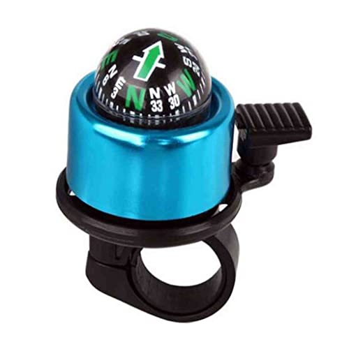Purple MTB Bicycle Bike Handlebar Bell Ring Ping Bell Bicycle Bell with Gradienter Compass