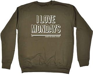 123t Funny Novelty Funny Sweatshirt - I Love Mondays SNOE - Sweater Jumper
