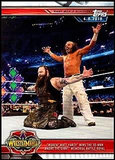 2019 Topps Road to WrestleMania #34 Woken Matt Hardy Wins the Andre the Giant Memorial Battle Royal Wrestling Trading Card