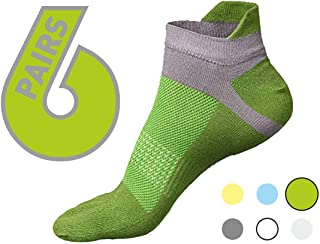 Five toe socks - toes separated comfortable socks for athletic, running, walking, yoga and casual use