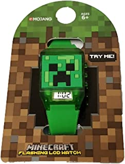 Minecraft Kids LED Flashing Wrist Watch Green
