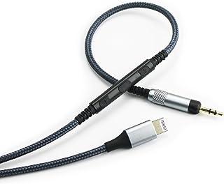 Cable de Repuesto Compatible con Auriculares Audio Technica ATH-M50x, ATH-M40x, ATH-M70x, Volumen Remoto y micrófono Compatible con iPhone XS/XS Max/XR/X/8/8 Plus/7/7plus
