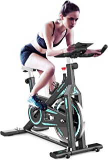 Flywheel Belt Drive Exercise Bike ,Indoor Fitness Stationary Spin Bikes,Indoor Gym Exercise and Fitness Home Cardio Workou...