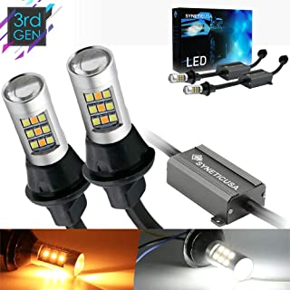 7443 Error Free Canbus Ready Dual Color Switchback LED Turn Signal Light Bulbs DRL Parking Lamp No Hyper Flash All in One