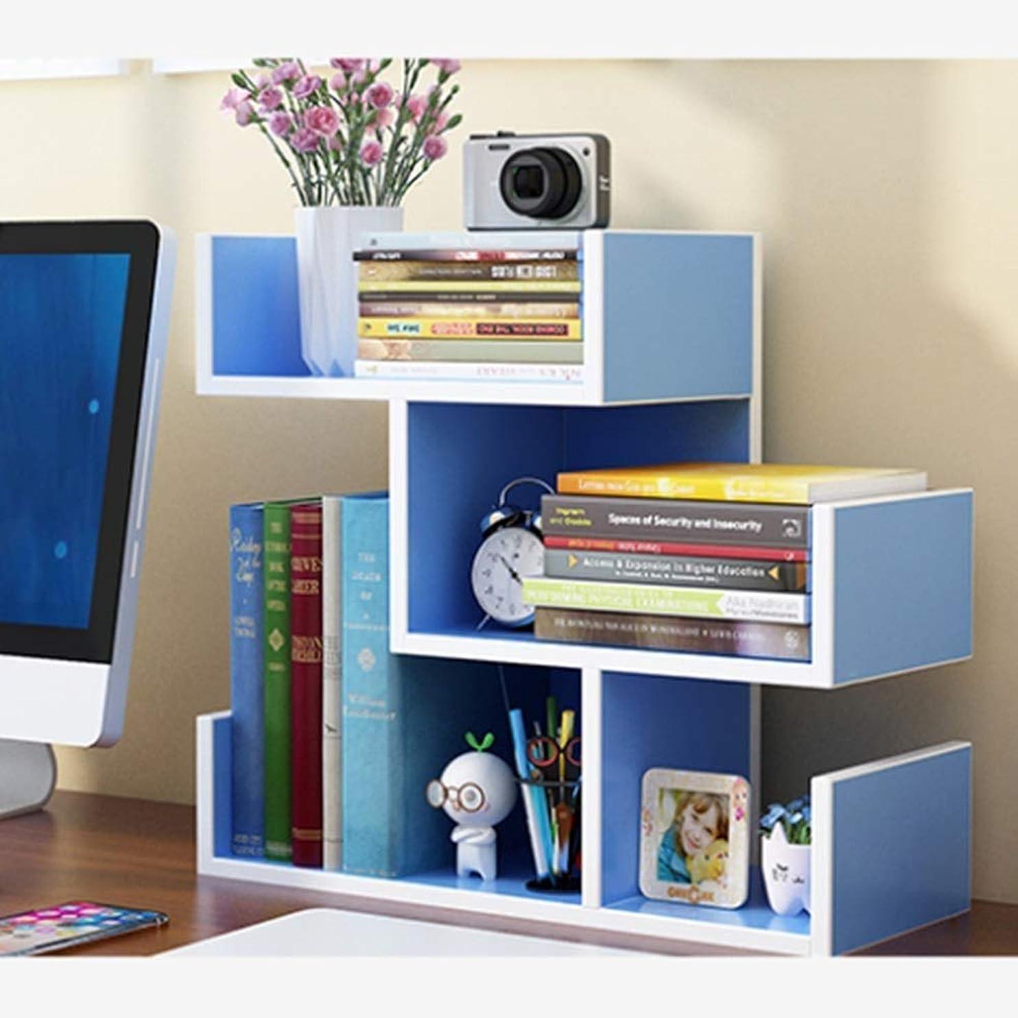 連続した満了レンダーJJL デスクトップオーガナイザーオフィス収納ラック調節可能な木製ディスプレイ棚 - フリースタイルディスプレイ - トゥルーナチュラルスタンド棚 - ウッドトーン (Color : B)