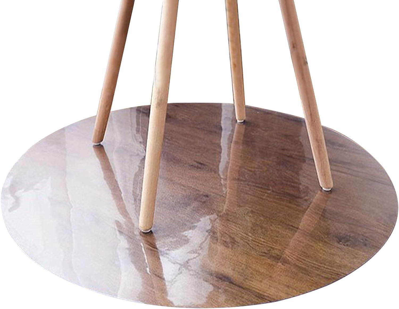 caiyan PVC Clear Round Chair 1mmTransparent Floor Popular standard Overseas parallel import regular item Protection Mat