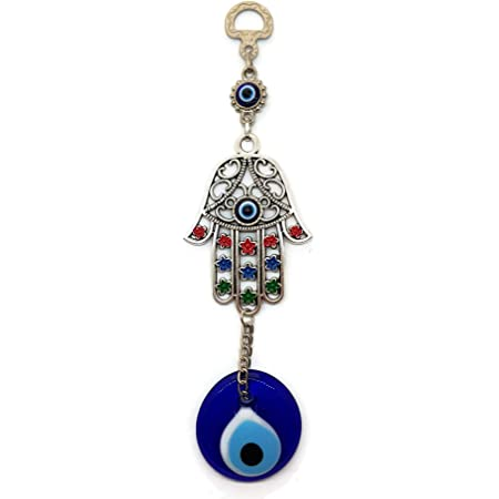 MYSTIC JEWELS - Ciondolo occhio turco con mano di Fatima da parete