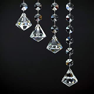 K9 Crystal Prism Window Hangings, Color Chain Jewelry Set Chakra Pendants Chandelier Prisms Hanging Glass Ball Ornament Cr...