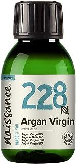 Naissance Organic Moroccan Argan Oil (nr. 228) 100ml - Puur en natuurlijk, anti-aging, antioxidant, veganistisch, hexaanvr...