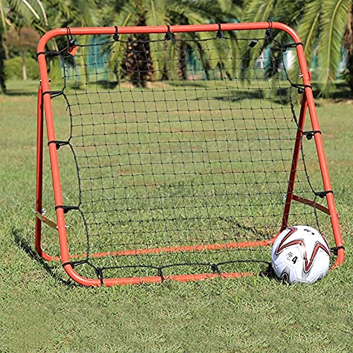 SQHGFFF Double Sided Multi Skills Rebounder Training Aid Aiuto Target Target Topo di Calcio Topo Kingback Pratica Regolabile Portiere Coaching Rebound Net