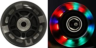 LED Inline Wheels 76mm 82a Skate Light UP 8-Pack w/ABEC 9 Bearings