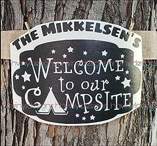 Camping Bucket or RV Trailer Camper Motorhome Door decal Sticker, Camping Decal, RV Sticker, 5 gallon Bucket, Campsite Dec...
