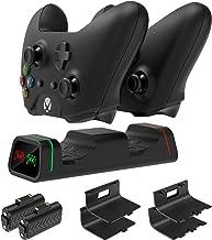 FYOUNG estação de carregamento com controle duplo para Xbox Series X/S, Xbox One/One X/One S, kits de base de carregamento...