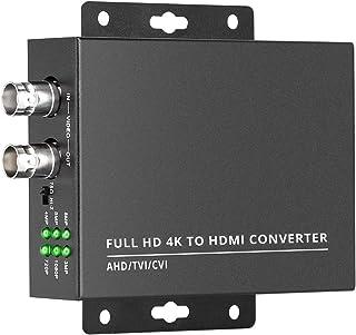Wsdcam TVI to HDMI Converter Full HD 4K Converter, 1080p/720p/4K/8MP/5MP/4MP/3MP, BNC to HDMI Video Converter Adapter - CV...
