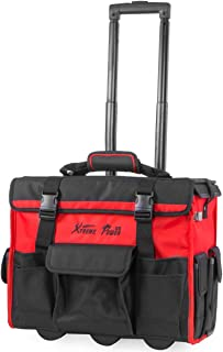 XtremepowerUS Rolling Tool Bag Organizer with Telescoping Handle 18
