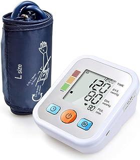 LIfav Esfigmomanómetro Parte Superior del Brazo, Portátiles Y para El Hogar Medir Automáticamente La Presión Arterial Y del Ritmo Cardíaco Gran Pantalla LCD Monitor Y El Brazalete,Live Voice