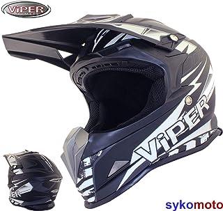 ViPER Rider Rsx121 Motocross Motorrad Erwachsener Schwarzer Helm Atv Enduro Ece Genehmigt Offroad M 57-58 CM