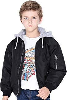Boys Light Jacket 3-12Y Hooded Sport Coat Suit for Fall