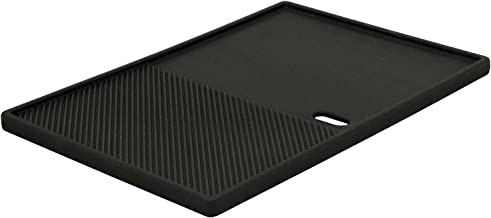 BBQ-Toro Gusseisen Grillplatte 39 x 26,5 cm | Wendeplatte, emailliert | beidseitig verwendbar | passend für BBQ, Gasgrill, Holzkohlegrill