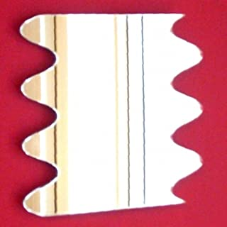 ServeWell Espejo de Pared Ondulado, plástico, Plateado, 45 x 45 cm