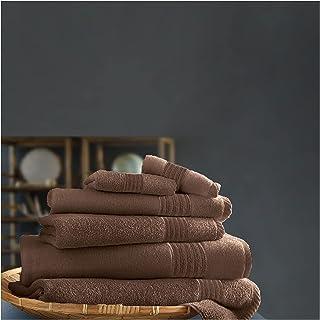 Gaveno Cavailia New Hampton Pack of 4 Towel Set, 100% Ringspun Cotton, Extra Absorbent 450 GSM Luxury Bath Sheets, Egyptia...