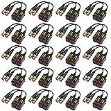 20 Pairs Passive HD BNC Video Balun Transceiver Transmitter AHD/TVI/CVI/CVBS Cable Connectors for 720P/960P/1080P/3MP/5MP CCTV Security Cameras