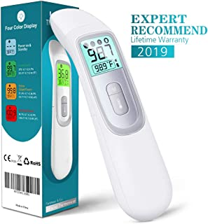 【2019 Newest 】Medical Forehead and Ear Thermometer, Best Medical Thermometer,Baby Thermometer Forehead and Ear Infrared Thermometer for Fever, 4 Modes for Baby Kids and Adults, Object/Room Temperature