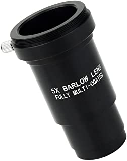 24.5mm Optical Glass Barlow Achromatic Lens Easy to Use Bewinner 0.96 Inch 3X Barlow Lens Durable Barlow Astronomical Telescope Eyepiece Plastic Lens M42x0.75mm Thread
