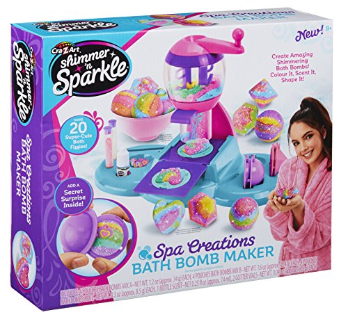 Shimmer and Sparkle 17819 Spa Creations Bath Bomb Maker Playset, Multicolor