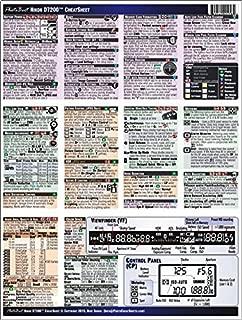 Nikon D7200 CheatSheet (short version, laminated, instruction manual)