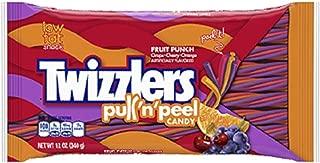 Hershey's, Twizzlers, Pull'n'Peel, (Grape, Cherry, Orange Flavors) Fruit Punch, 12oz Bag (Pack of 4)