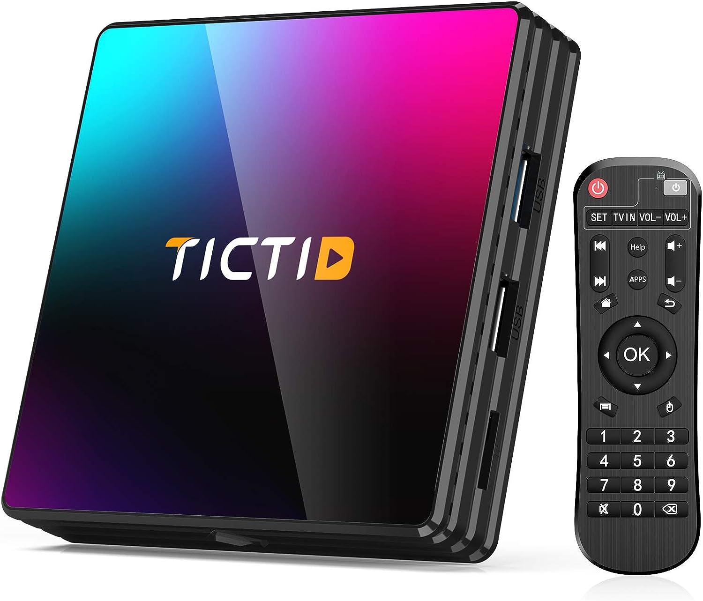 Android 10.0 TV Direct Tucson Mall store Box TICTID 4GB RAM ROM Player PRO 64GB T8 Media