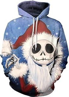 Emejate - Sudadera con capucha para hombre, diseño de la pesadilla antes de Navidad