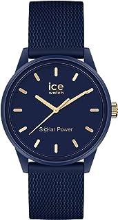 Ice-Watch - ICE Solar Power Navy Gold Mesh - Montre Bleue pour Femme avec Bracelet en Silicone - 018743 (Small)