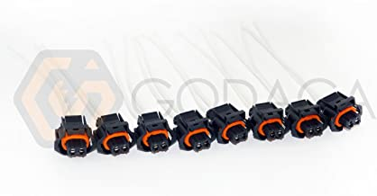 Set of 8 Fuel Injector Connector 6.6L FOR Duramax LLY LBZ 2 Wire Pigtail Diesel