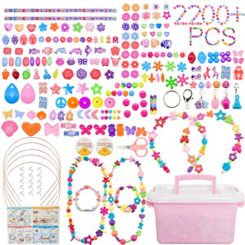 SOTOGO 2200 Pieces Pop Beads Art Crafts for DIY Jewelry Making Set Toys,Necklace,Bracelet and Ring Making Kit,Best Toys Gift