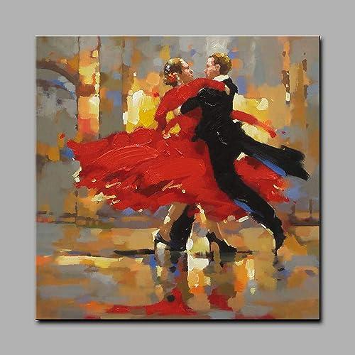 Descuento del 70% barato LDKAI Pintura al óleo Pintado Pintado Pintado a Mano-Personas Art Deco Retro Laminado en Lienzo  gran descuento