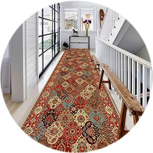 Alfombras de Pasillo Vintage Patchwork Carpet Runner Pasillo Sala De Estar Cocina Área Larga De 100cm / 200cm / 300cm / 400cm / 500cm / 600cm / 700cm (Size : 100x600cm)