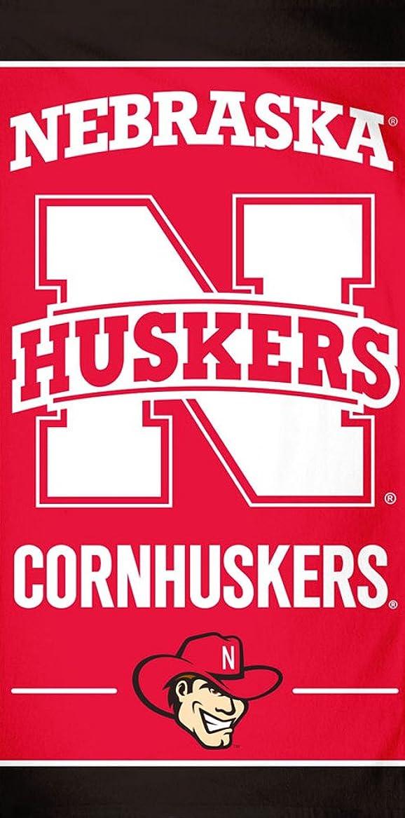 国籍エレベーター幻影ネブラスカCornhuskers NCAA 30?x 60インチビーチタオル