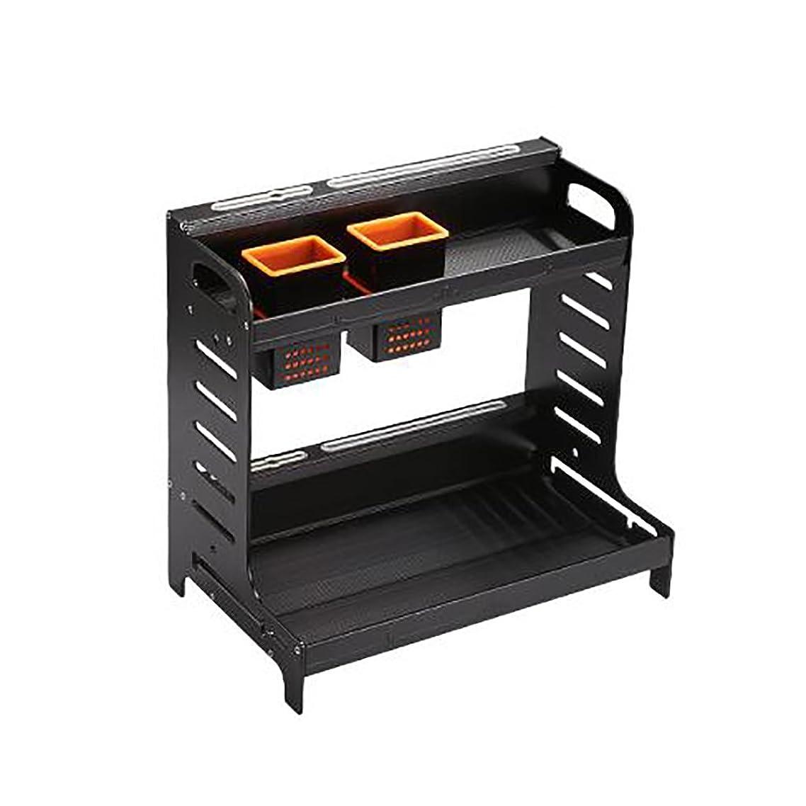 オリエントアラバマ見出し棚スペースアルミランディング2層キッチン調味料ラック棚キッチン用品ラックツールホルダー収納ラックスパイス棚