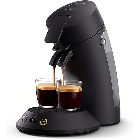 Philips Senseo Original Plus CSA210/60 Machine à café à dosettes (sélection de la puissance du café, technologie Coffee Boost, en plastique recyclé) Noir