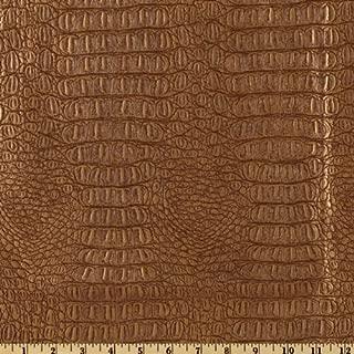 Plastex Fabrics Faux Leather Gator Metallic Copper Fabric By The Yard