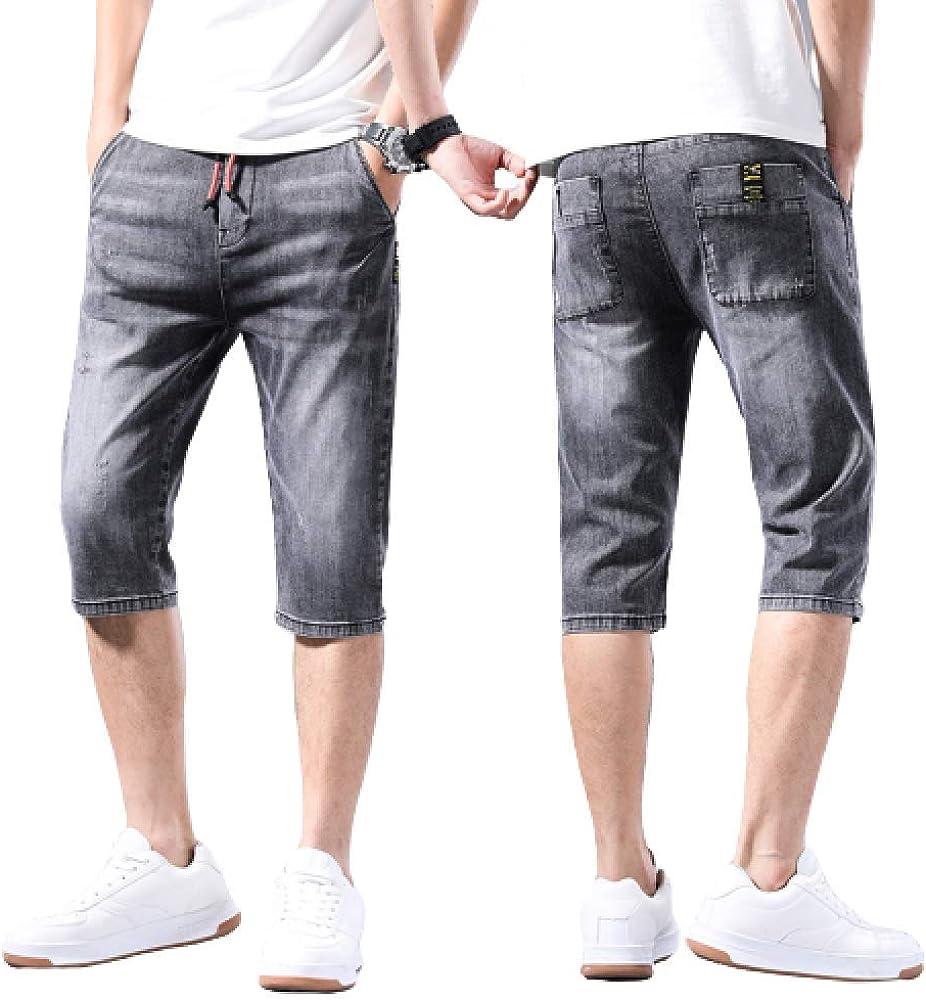 brandless Men's Jeans Summer Slim Section Slim Denim Shorts Cropped Pants Fashion Horse