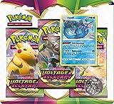 Pokémon Epée et Bouclier-Voltage Eclatant (EB04) : Pack 3 boosters-Jeu de Cartes à Collectionner, 3PACK01EB04