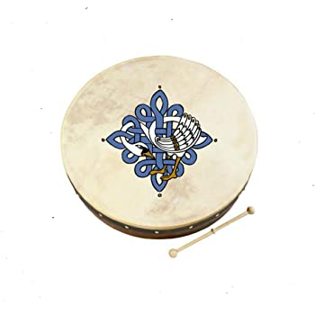 "Waltons Bodhrán 18"" (Children of Lir) - Handcrafted Irish Instrument - Crisp & Musical Tone - Hardwood Beater Included w/Purchase"