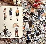 BLOUR 280pcs Cute Kawaii selbst gemacht Hübsche Mädchen Scrapbooking Aufkleber/dekorative...