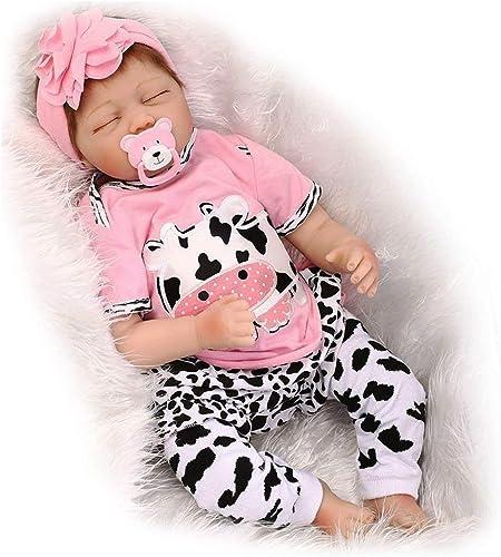 HOOMAI lebensecht 22 Zoll 55cm Baby Reborn Puppen für Weiße Simulation Silikon Vinyl Schlafen mädchen Cartoon Kleidung Zubeh Geschenk