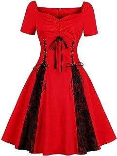 a969237085c FeelinGirl Femme Robe Noel Femme Robe de Noel Robe Noel Femme Robe Noel  Fille en Dentelle