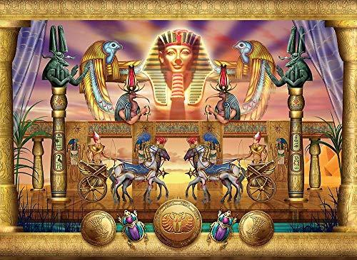LIWEIXKY Rahmenloses Ölgemälde Malen Nach Zahlen Ägypten Pharao Malen Leinwand Wandbilder Für Wohnzimmer 40X60Cm